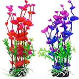 buy Mudder Artificial Aquatic Plants Aquarium Plants Plastic Fish Tank Decorations 7.5 Inch, 2 Pieces now, new 2019-2018 bestseller, review and Photo, best price $8.75