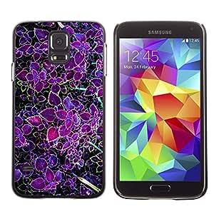 X-ray Impreso colorido protector duro espalda Funda piel de Shell para SAMSUNG Galaxy S5 V / i9600 / SM-G900F / SM-G900M / SM-G900A / SM-G900T / SM-G900W8 - Purple Tropic Green Spring