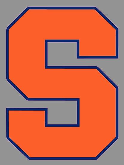Amazon Com Syracuse Orange Window Sticker 6 In Logo Truck Emblem