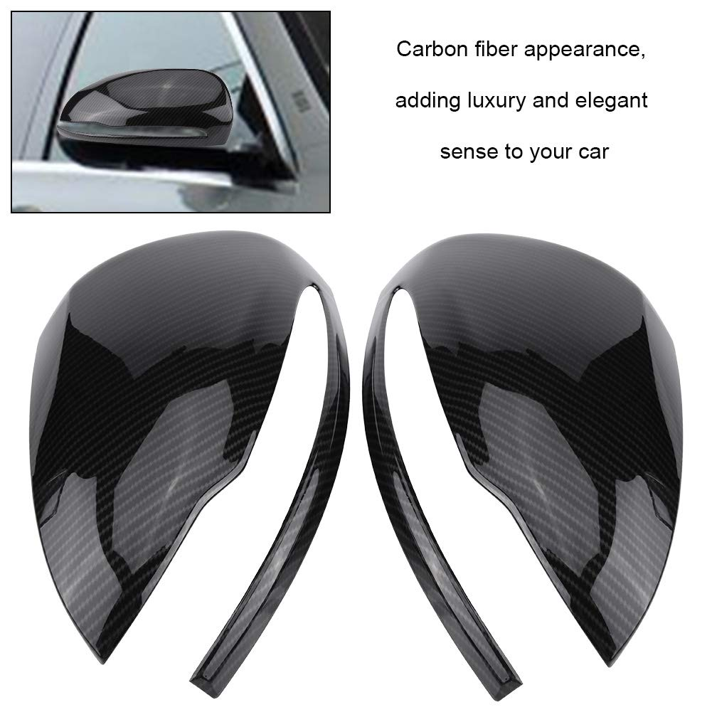 Acouto 1 Pair Carbon Fiber Rearview Mirror Cover Cap Trim for Mercedes Benz C//E//GLC//S Class W205 W213 X253 W222
