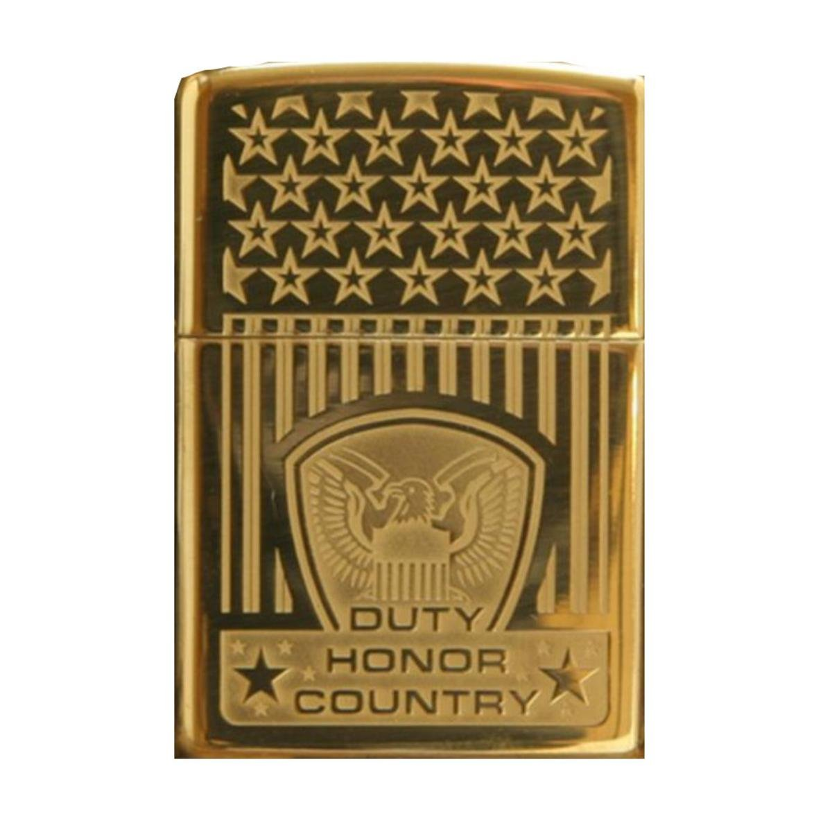 Amazon com zippo duty honor country brass heavy walled armor lighter custom made health personal care