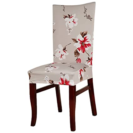 Tomtopp Conjoined Hibiscus Designed Floral Pattern Elastic Chair Cover