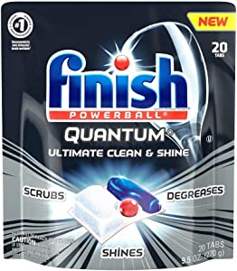 Finish Quantum Ultimate Clean & Shine, Dishwasher Detergent Tablets