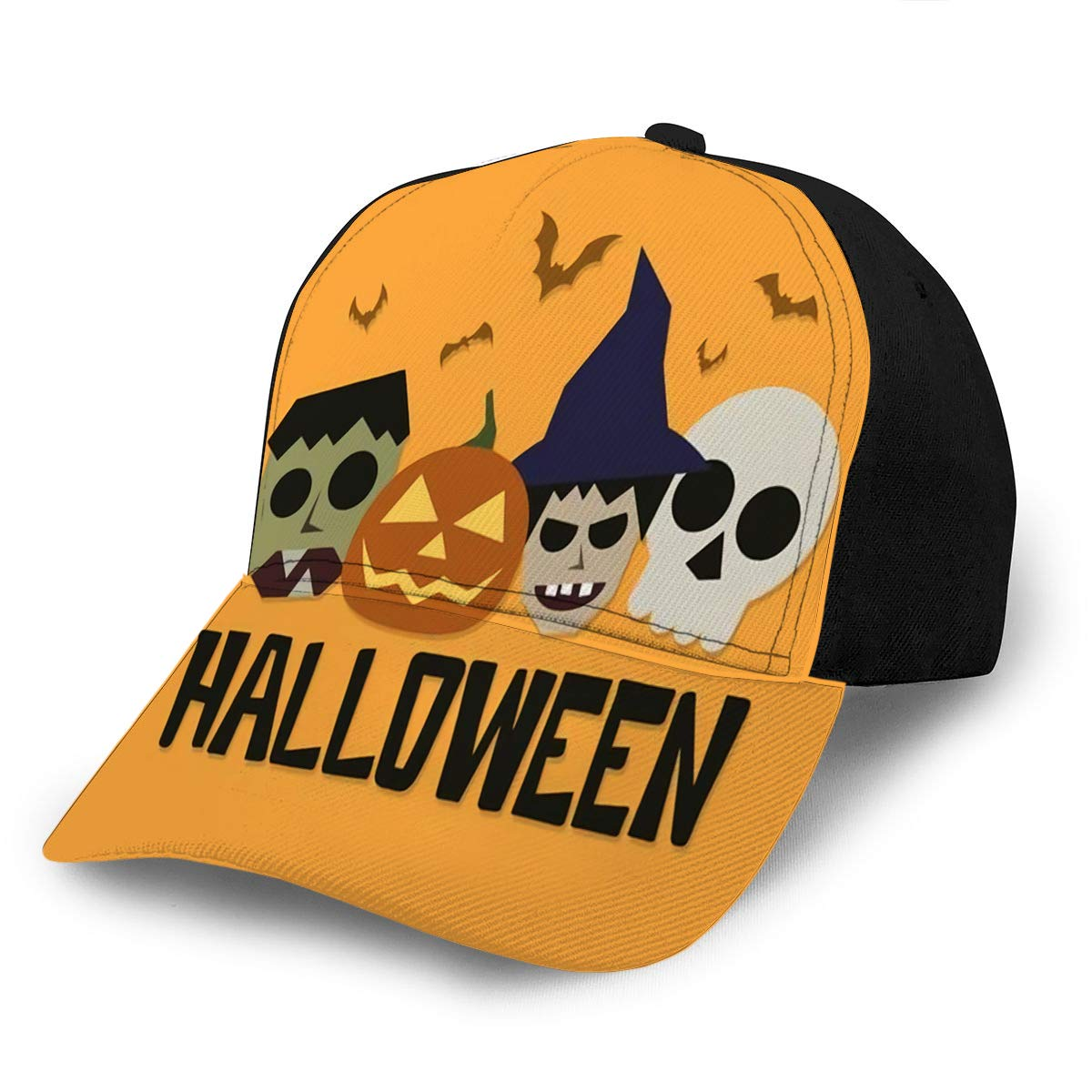 avbvoxy Baseball Cap Hats Adjustable Halloween Graphics with Witch Zombie Skull and PUM