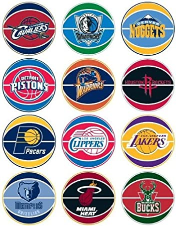 Amazon com nba national basketball association prismatic stickers set of 30 teams other products everything else