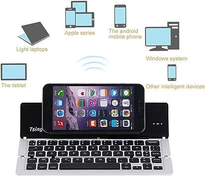 Ultrathin Wireless Bluetooth 3.0 Keyboard Aluminium Alloy Foldable Keyboard Stand For Smartphone Bluetooth Keyboard(Grey): Amazon.es: Electrónica