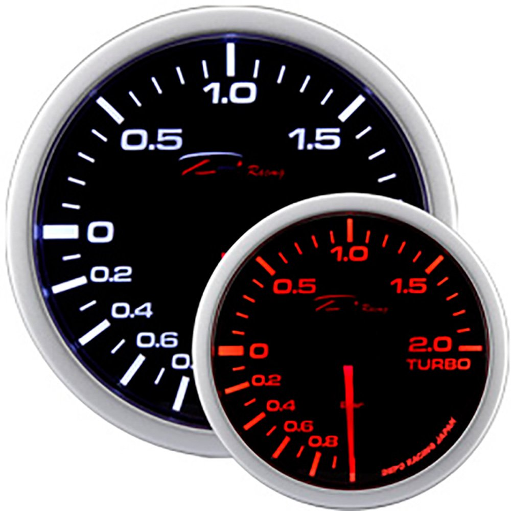 DEPO Racing Red white Electric Boost Gauge