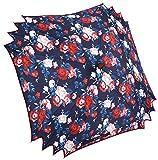 Mio Marino Umbrellas For Women - Rose Garden Scalloped Edge Square Umbrella - Free Gift Bag
