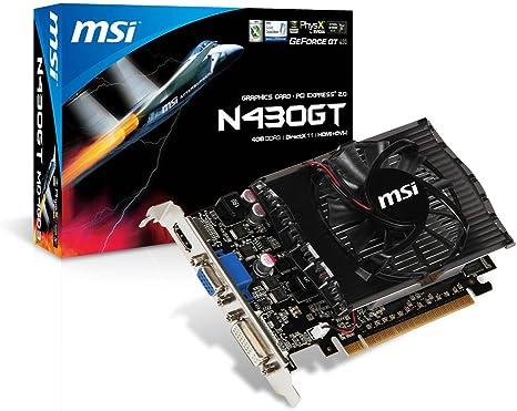 Amazon.com: MSI computadora Corp NVIDIA GeForce GT430, 4 GB ...