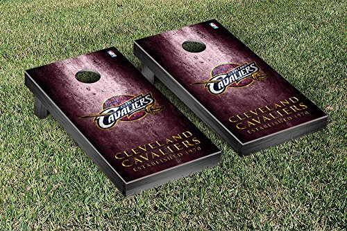 Cleveland Cavaliers NBA Basketball Regulation Cornhole Game Set Museum Version by Victory Tailgate