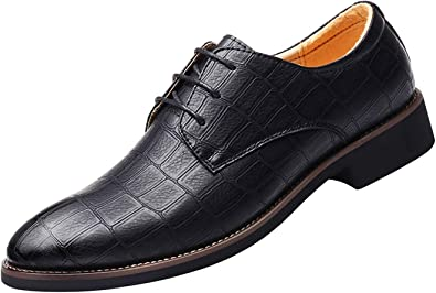 Dress Shoes Men Leather Oxford Lace up