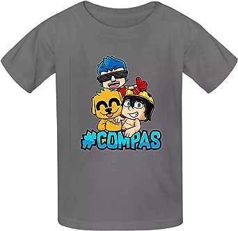 aiyuheping Mike-Crack - Camisas unisex para niños y niñas, algodón con cuello redondo