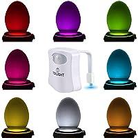 Het Originele Decoratieve Nachtlampje Voor Op Het Toilet. Leuke LED Badkamerverlichting Met Bewegingssensor. Bizar…