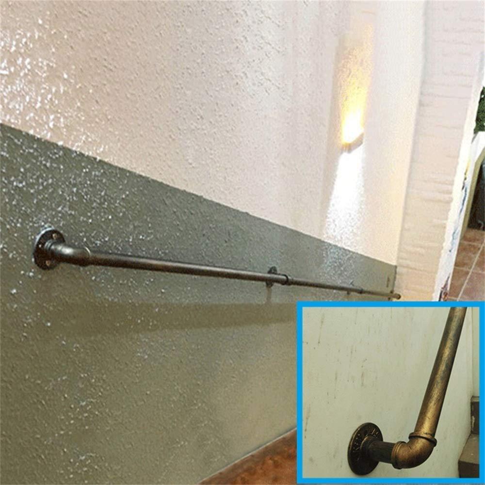 Fer Bronze Industriel Pipe Main Courante for Escaliers Size : 1ft Maison Contre Le Mur Int/érieur Et Ext/érieur Loft Personnes /Âg/ées Rampes Corridor Statif Main Courante