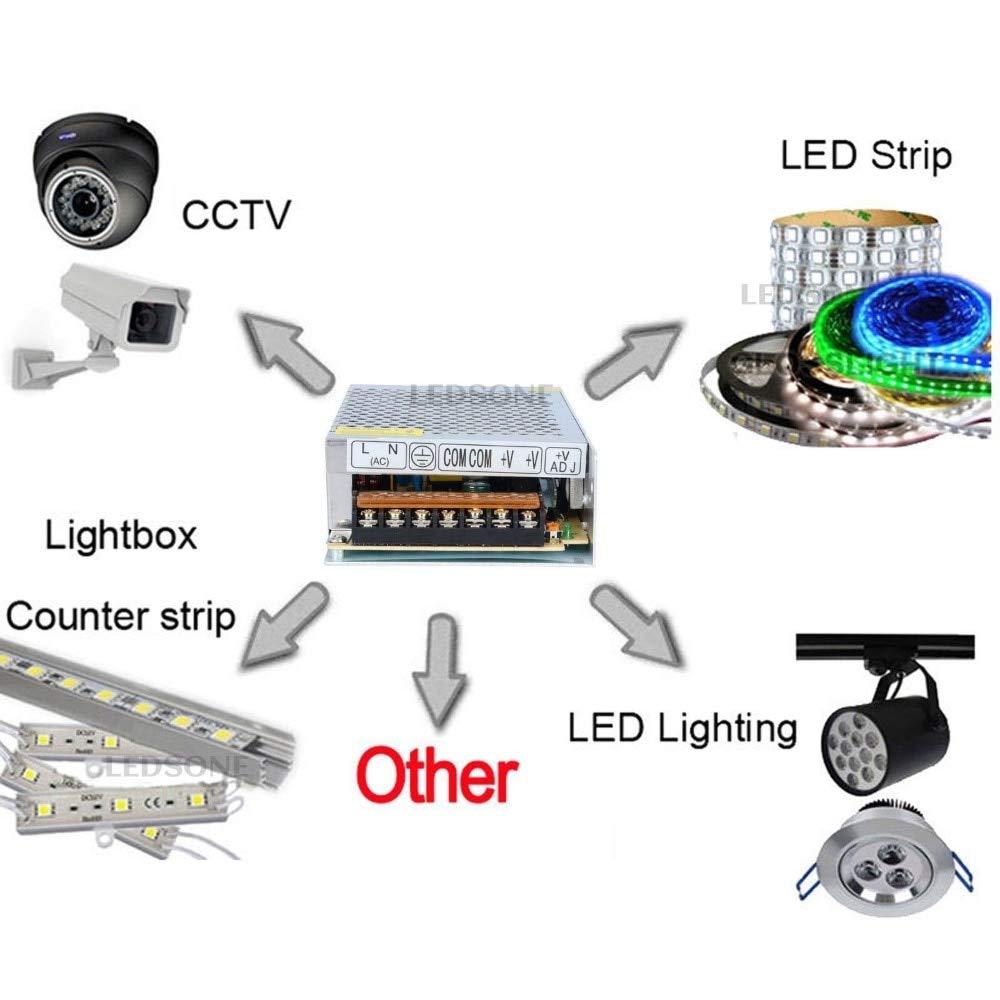 Eiechip DC5V 2A 10W Switching Power Supply Driver,Wide Voltage 110v - 220v Universal,Power Transformer for CCTV Camera,Security System,LED Strip Light
