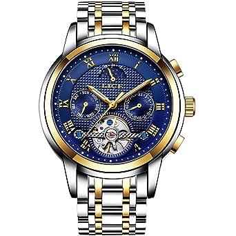Relojes para Hombres,LIGE Mecánico Automático Relojes de Pulsera ...