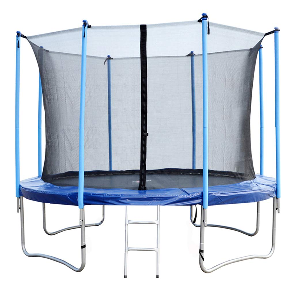 BestMassage Trampoline 8FT Round Jumping Table with Safety Enclosure Net Sping Pad Bounding Bed Combo Trampoline Fitness Equipment