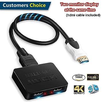 Divisor HDMI 1 en 2 Salidas, Divisor HDMI 1 a 2 Amplificador ...