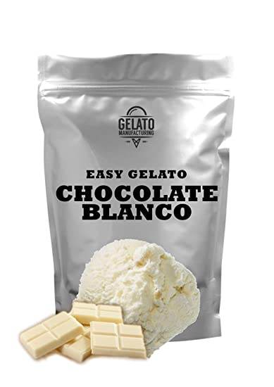Base mix para helado de CHOCOLATE BLANCO, con 1.5 kg mix + 2.5 lt leche