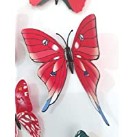 3D butterflies wall decoration - Red