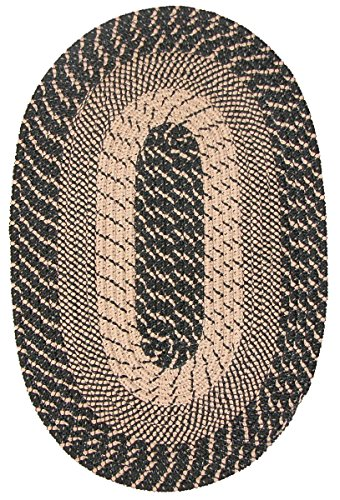 Plymouth Braided Rug in Black Sand (5' x 8' (Nylon Braided Runner Rug)