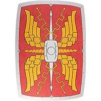 Rectangular Roman Wooden Shield (Red Silver & Gold)