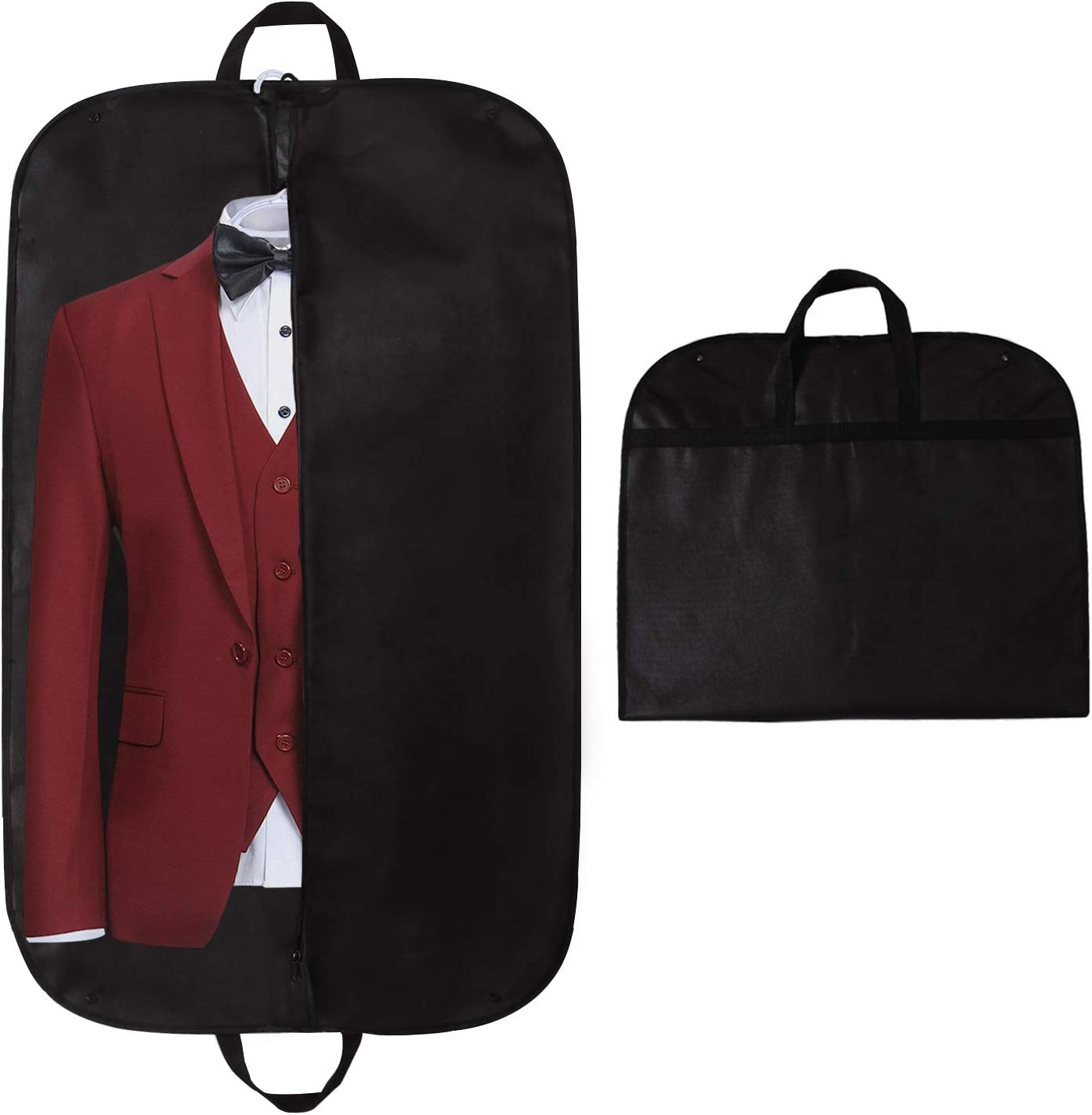"STEVOY Garment Bag, 40"" Breathable Travel Suit Covers Carrier Bag with Handles, Foldover"