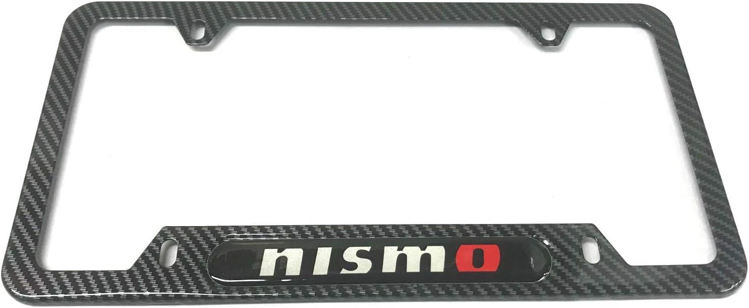 Nissan 370Z 4 Holes Black Real Carbon Fiber 50 States License Plate Frame