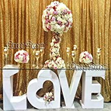 QueenDream 4ft x6.5ft Gold sequin backdrop for christmas day and thanksigiving day Photo Booth Decorations