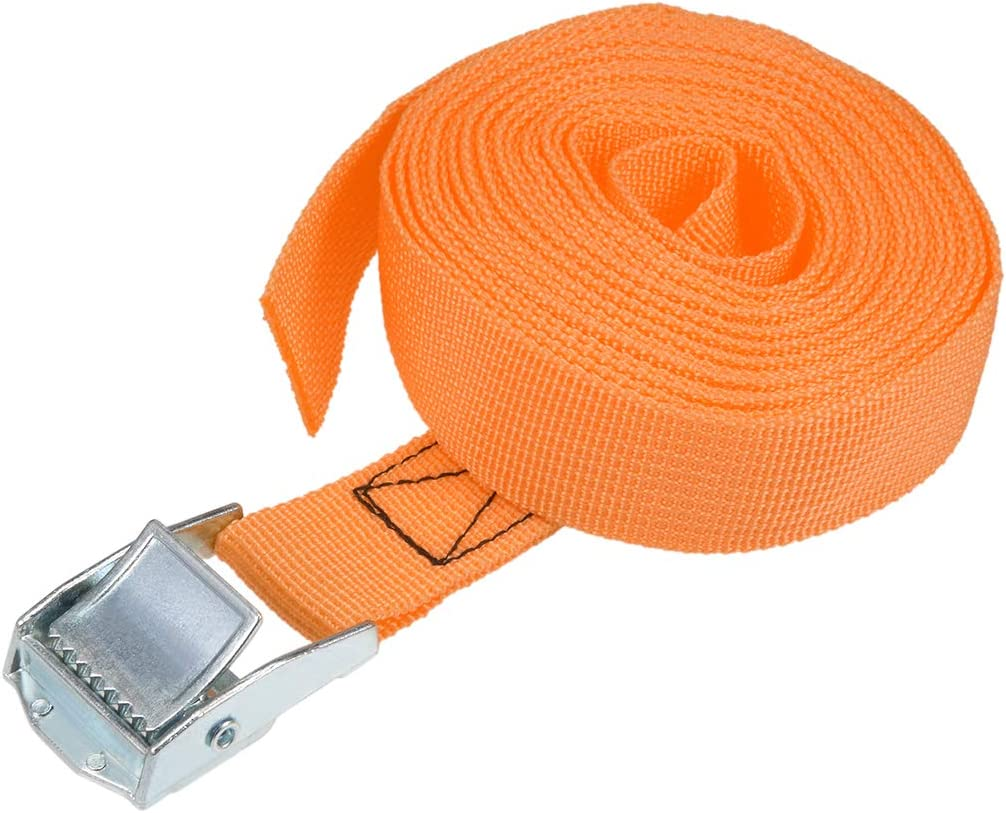 uxcell Cam Buckle Tie Down Lashing Strap 4Mx25mm 250Kg Load Cap Polypropylene for Moving Cargo Pack of 1 Blue