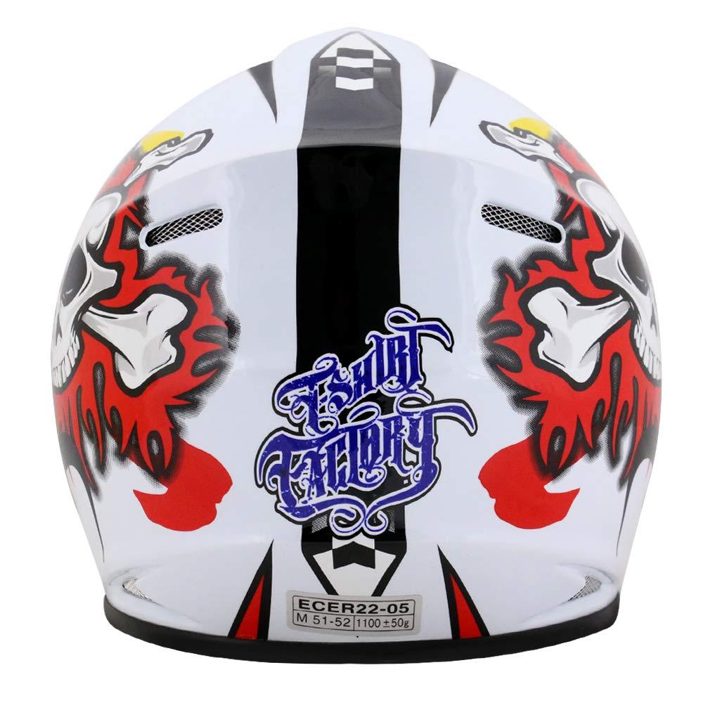 53-54cm Brille} Kinder Motorradhelm Full Face MX Helmet M/ädchen Jungen Dirt Bike Leopard LEO-X18 {Sch/ädel Kinder Motorrad Helm L +Handschuhe L-7cm