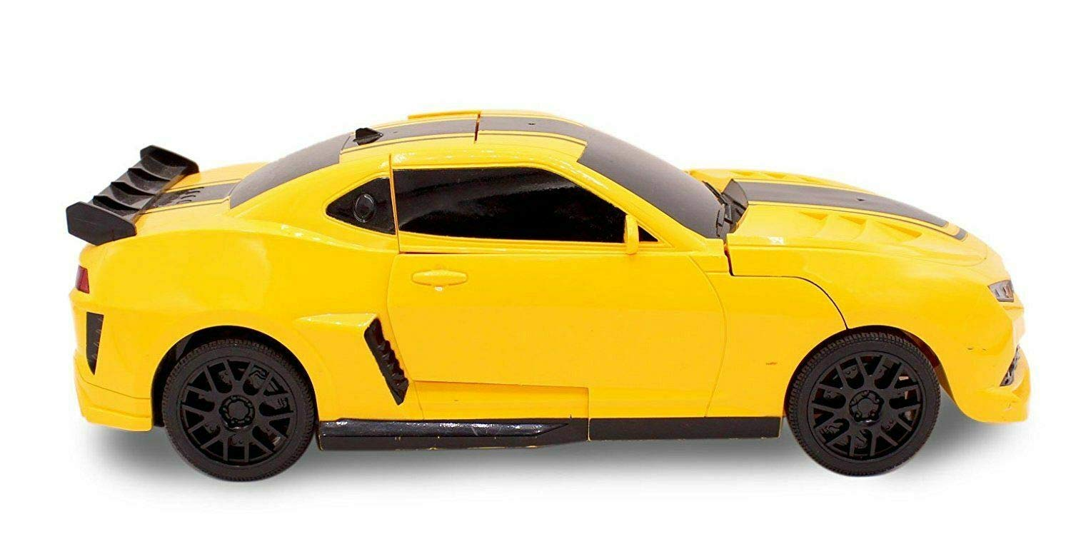Kids RC Toy Sports Car Transforming Robot Remote Control with One Button Transformation, Realistic Engine Sounds, 360 Speed Drifting, Sword and Shield Included Toys For Boys 1:14 Scale Yellow by Transformania Toys (Image #4)