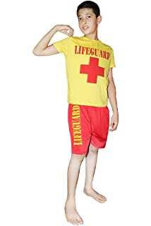 4fe4b8142ed2 Angies Fashion Kids Boys Lifeguard T-Shirt and Short Set Beach Bay Life  Saver Children School Fancy…