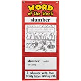 Educational Insights Word Of The Week Vocabulary Pocket Chart Grade 3