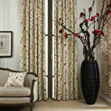42″W x 84″L (Set of 2 panels) Multi Size Available Custom Modern Country Rustic Floral Branches Cotton Polyester Blend Print Grommet Top Lined Blackout Window Treatment Draperies & Curtains Panels Review