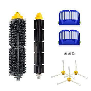 Set recambio compatible de cepillos para Roomba 520, 530, 540, 555, 560, 562 pet, 570, 580: Amazon.es: Hogar