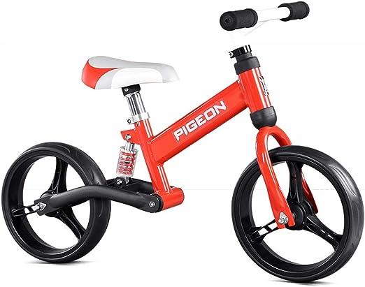 Bicicleta sin pedales Bici Bicicleta roja para niños/niñas ...
