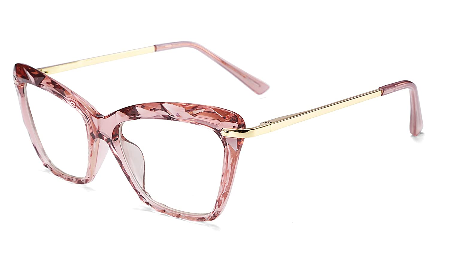 FEISEDY Cat Eye Crystal Glasses Frame Women Non Prescription Optical Eyewear B2440 B2440-XBK-D