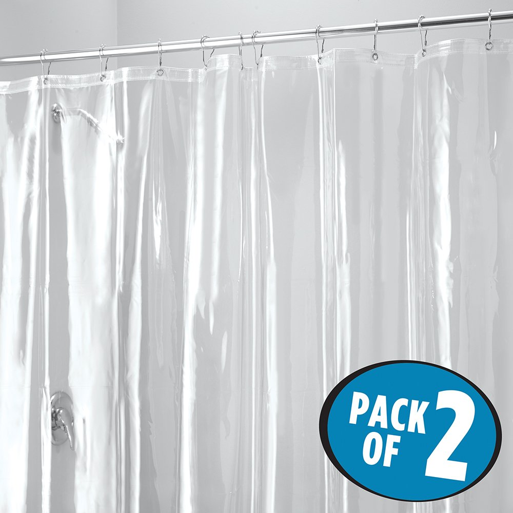 Details About Pack Of 2 Waterproof Shower Curtain Liner Extra Wide 108 X 72 Vinyl 48 Gauge