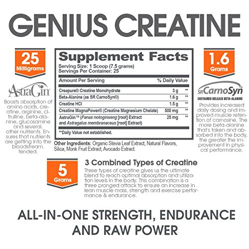 Genius Creatine Powder, Post Workout Supplement For Men