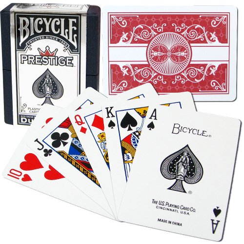 Bicycle Prestige Plastic Playing Cards (Red) (Prestige Bicycle Cards)