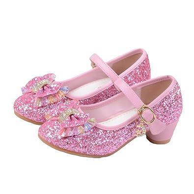 82647ccf622 JTENGYAO Baby Girls Princess Shoes Glitter Dance Shoes Buckle Strap High  Heels