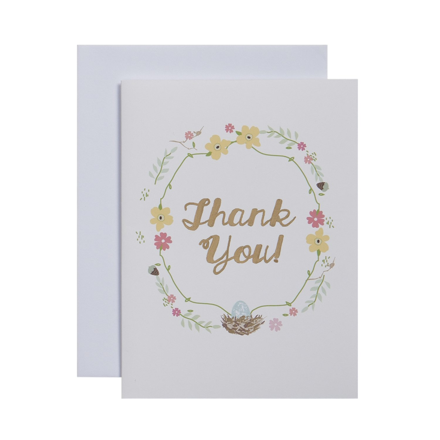 CRG Boxed Thank You Notes, Nest, 10-Count C.R. Gibson NTT-13914