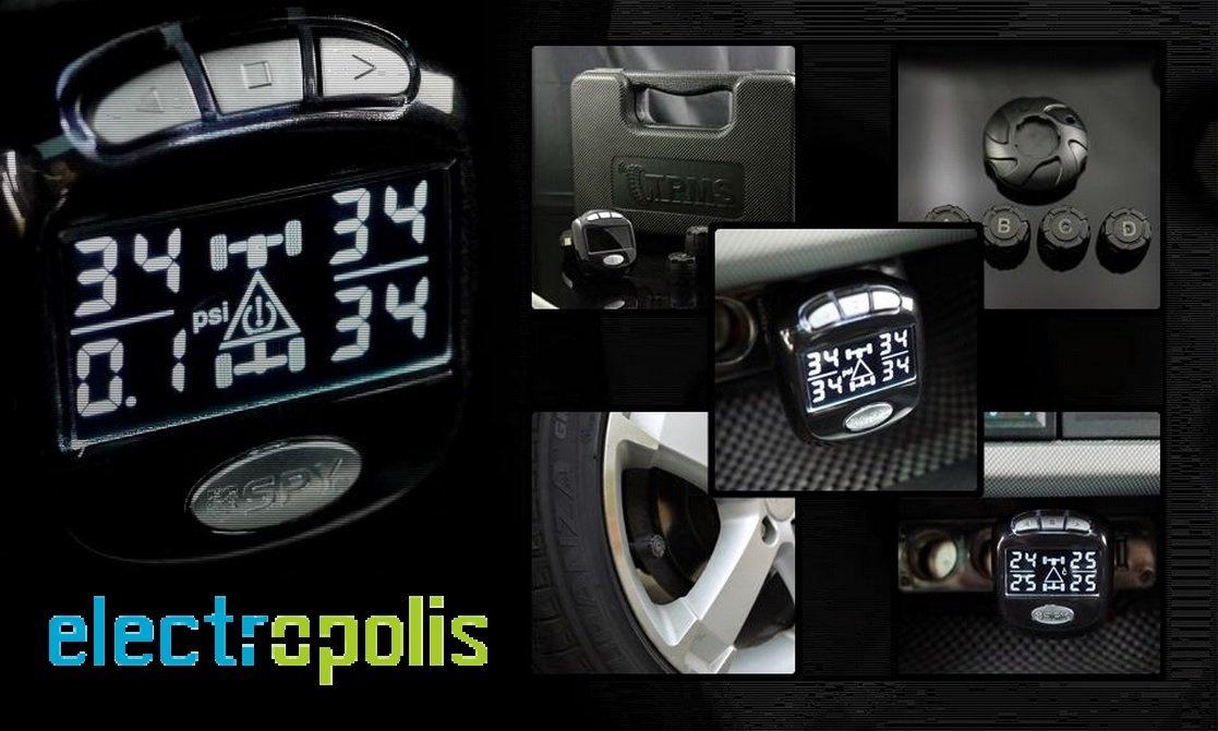 Spy TPMS Portable Sensores de presi/ón para neum/áticos con 4 sensores externos