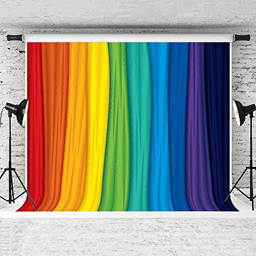 Kate 7x5feet Colorful Rainbow Photo Backdrop Rainbow Colors Background Children Photography