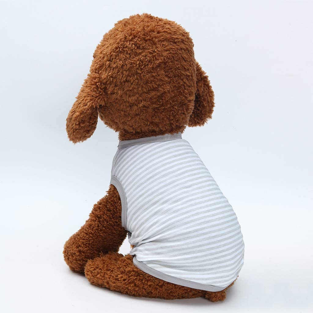 Deloito Haustier Kleidung Fr/ühling Sommer Hunde Katze Klassisch Streifendruck D/ünner Jacke Mantel Welpen Atmungsaktive Pullover Weste