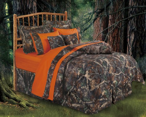 HiEnd Accents Realtree Oak Camo Comforter Set, Queen