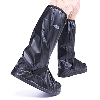 super cheap new collection reasonably priced ARUNNERS Motorcycle Rain Boots Covers Cycling Shoes Gear Men (Black, High,  XXL)