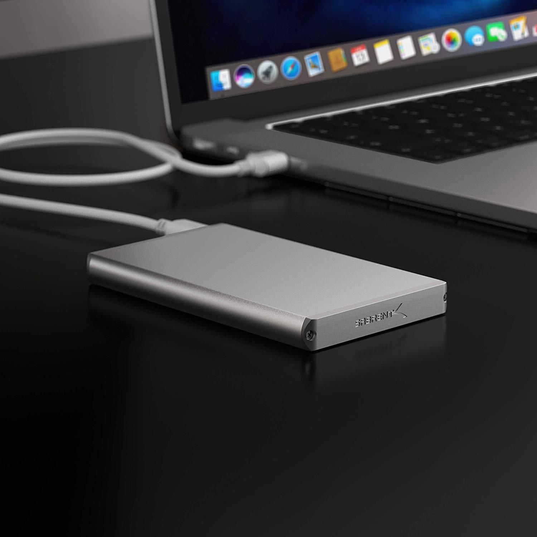 EC-UM30 Sabrent Bo/îtier disque dur//SSD 2.5 Argent boite de stockage 2.5, SATA, S/érie ATA II, Bo/îtier disque dur//SSD, Argent, Aluminium, 5 Gbit//s boites de stockage
