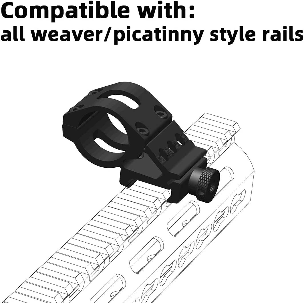 Weltool PM1 Tactical Offset Torche Mount Pour Picatinny rail MIL-STD-1913 Weaver